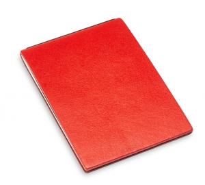 X-Steno Leder glatt rot mit 1 Einlage