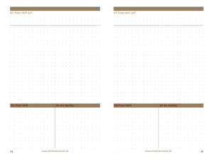 "A5 mindfulnessence ""Achtsame Tagesplanung""-Einlage, 2er Pack"