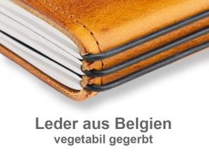 A5+ Quer Notizbuch Leder Natur - vegetabil gegerbt (2 oder 3 Hefte)