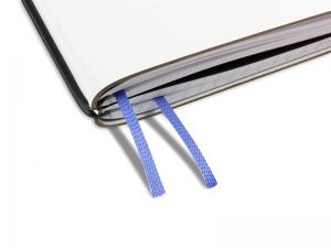 Doppelbuchband stahlblau