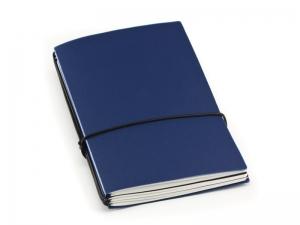 A6 3er HardSkin dunkelblau Notizenmix