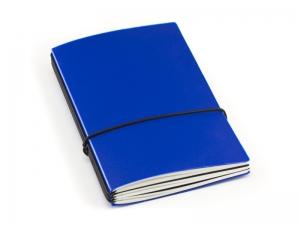 A6 3er HardSkin königsblau Notizenmix
