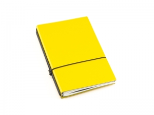 A5 3er Notizbuch Lefa gelb, Notizenmix