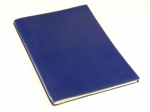A4+ 1er Leder glatt blau mit 1 x Notizen und Doppeltasche