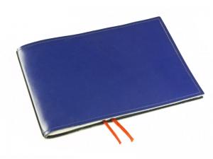 A5+ Quer 1er Leder glatt blau