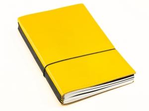 A5 Lehrerkalender Komplettpaket, Leder glatt gelb