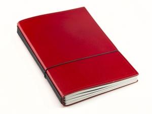 A5 Lehrerkalender Komplettpaket, Leder glatt rot