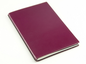 A4+ 1er Leder glatt violett mit 1 x Notizen und Doppeltasche