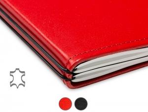 A4+ Notizbuch Leder Glatt (1 bis 2 Hefte)