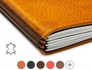 A4+ Hülle Leder Natur für 1-3 Hefte