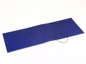 A5+ Quer Hülle 1er Leder glatt blau inkl. ElastiXs
