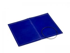 A7 Hülle 1er Leder glatt blau inkl. ElastiXs