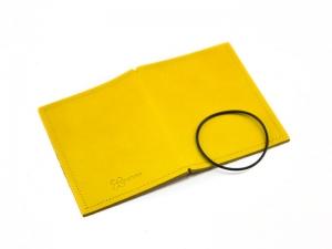A7 Hülle 1er Leder glatt gelb inkl. ElastiXs