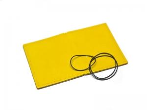 A7 Hülle 2er Leder glatt gelb inkl. ElastiXs