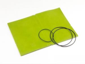A6 Hülle 2er Leder glatt grün inkl. ElastiXs