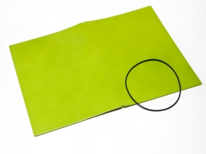 A7 Hülle 1er Leder glatt grün inkl. ElastiXs