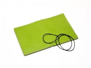A7 Hülle 2er Leder glatt grün inkl. ElastiXs