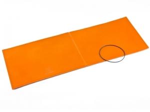 A5+ Quer Hülle 1er Leder glatt orange inkl. ElastiXs