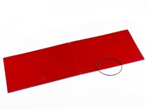 A5+ Quer Hülle 1er Leder glatt rot inkl. ElastiXs
