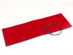 A5+ Quer Hülle 3er Leder glatt rot inkl. ElastiXs