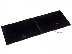 A5+ Quer Hülle 1er Leder glatt schwarz inkl. ElastiXs