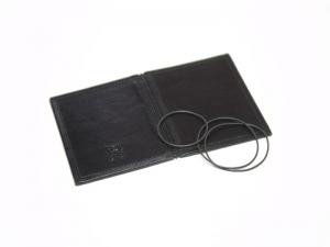 A7 Hülle 2er Leder glatt schwarz inkl. ElastiXs