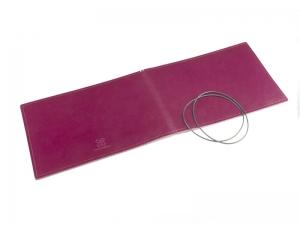 A5+ Quer Hülle 2er Leder glatt violett inkl. ElastiXs