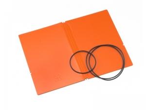 A6 Hülle 2er Lefa orange inkl. ElastiXs
