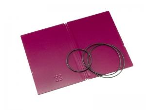 A6 Hülle 2er Lefa violett inkl. ElastiXs
