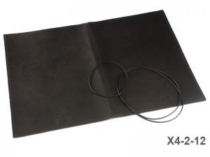 A4+ Lederhülle  für 2 Einlagen, glatt matt dunkelbraun (X4-2-12)