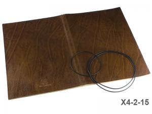A4+ Lederhülle  für 2 Einlagen, glatt braun (X4-2-15)