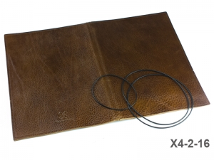 A4+ Lederhülle  für 2 Einlagen, naturgenarbt cognac (X4-2-16)