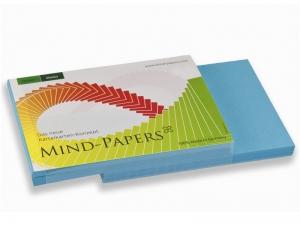 DIN A7 Mind-Papers Nachfüllpack, 100 Karteikarten, Farbe: blau