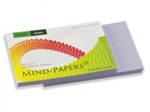 DIN A6 Mind-Papers Nachfüllpack, 100 Karteikarten, Farbe: flieder