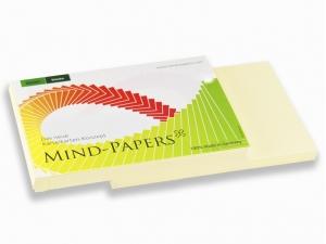 DIN A7 Mind-Papers Nachfüllpack, 100 Karteikarten, Farbe: gelb