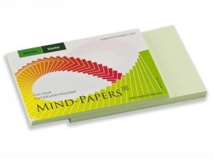 DIN A7 Mind-Papers Nachfüllpack, 100 Karteikarten, Farbe: hellgrün