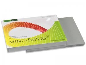 DIN A5 Mind-Papers Nachfüllpack, 100 Karteikarten, Farbe: schiefer