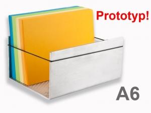 Alu-Karteikastenbox für DIN A6 Karten