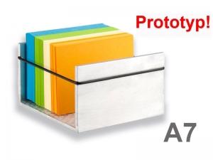 Alu-Karteikastenbox für DIN A7 Karten