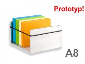 Alu-Karteikastenbox für DIN A8 Karten