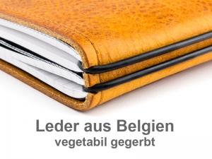 A4+ Projektmappe Leder Natur (vegetabil gegerbt)