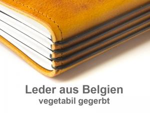 A5 Terminplaner Leder Natur 2020 - vegetabil gegerbt (4 Einlagen)