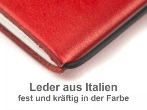 A6 Adressbuch mit Prägung Leder glatt