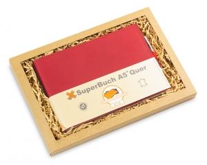 A5+ QUER BOX Leder natur