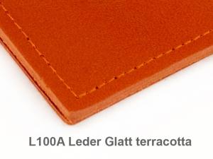 A7 Hülle 1er Leder glatt terracotta inkl. ElastiXs
