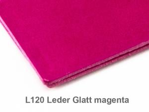 X-Steno Leder glatt magenta mit 1 Einlage
