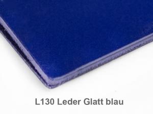 X-Steno Leder glatt blau mit 1 Einlage