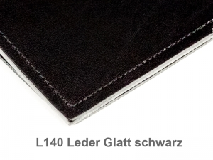 A7 1er Adressbuch Leder glatt schwarz