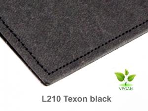 A6 1er Notizbuch Texon schwarz mit Notizenmix