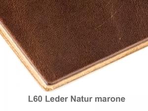 A7 1er Adressbuch Leder natur marone